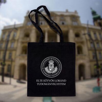 Címeres bevásárlótáska - Fekete