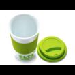 Soft touch szilikonos bögre, zöld