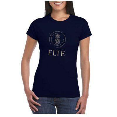 ELTE címeres kék-arany póló női- s