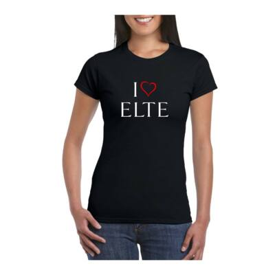 I LOVE ELTE fekete női póló -S