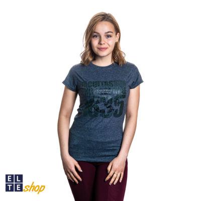Retro női póló -ELTE facultas szürke S-es méret