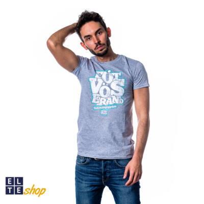 Eötvös feliratos unisex póló, szürke - XL