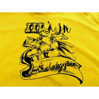 III. ÁJK szabadegyetem sárga póló- S