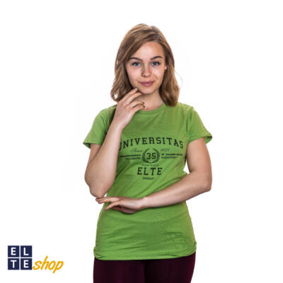 ELTE Universitas női zöld póló  - S