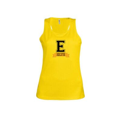 Női sport atléta - sárga
